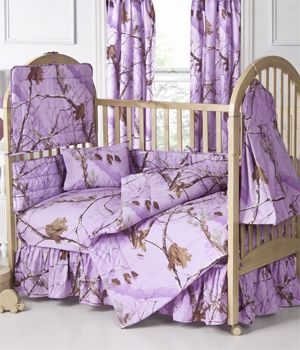 Lavender And Green Nursery Bedding | AP Lavender Camo Crib Bedding. I love this bedding in my daughter's room! I found it cheapest at http://www.logfurnitureplace.com/realtree-all-purpose-lavender-camo-comforter-set.html