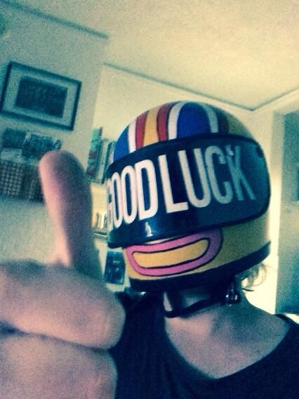 Gerard in Kobra Kid's helmet <----- He shouldn't be wearing that. It's Mikey's. Gerard is Party Poison.