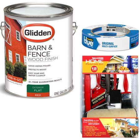 Gb Glidden Barn&fence Fin-red 4099f01 with ScotchBlue ...
