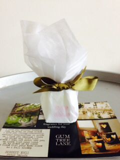 Our bridal essential oil blend being sent out with our press release