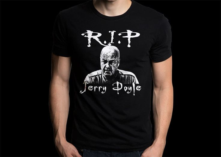 Jerry Doyle RIP Black T-shirt #Gildan #PersonalizedTee