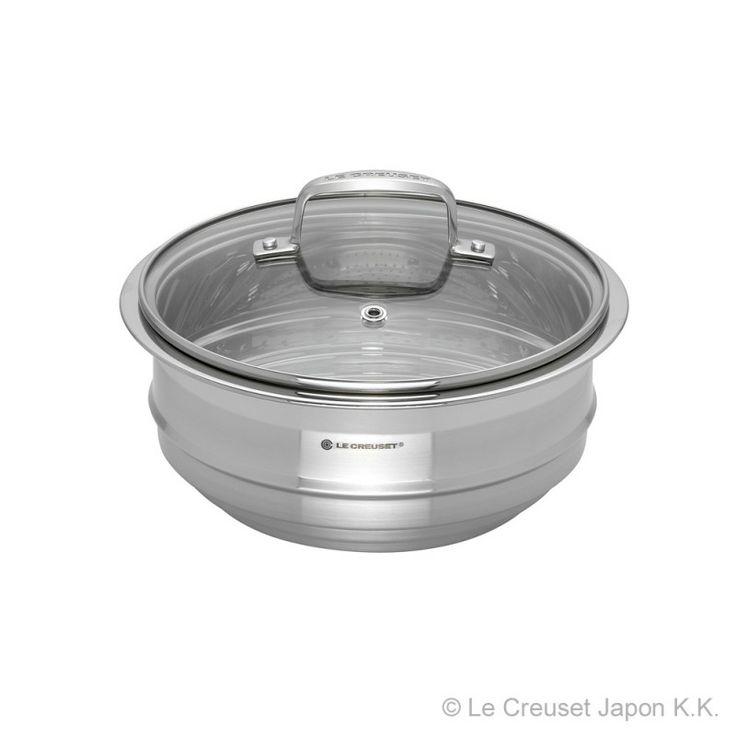 ココット・ロンド16、18、20cm、ココット・ジャポネーズ18cmに共通で使えるスチーマーです。 [¥10,000]