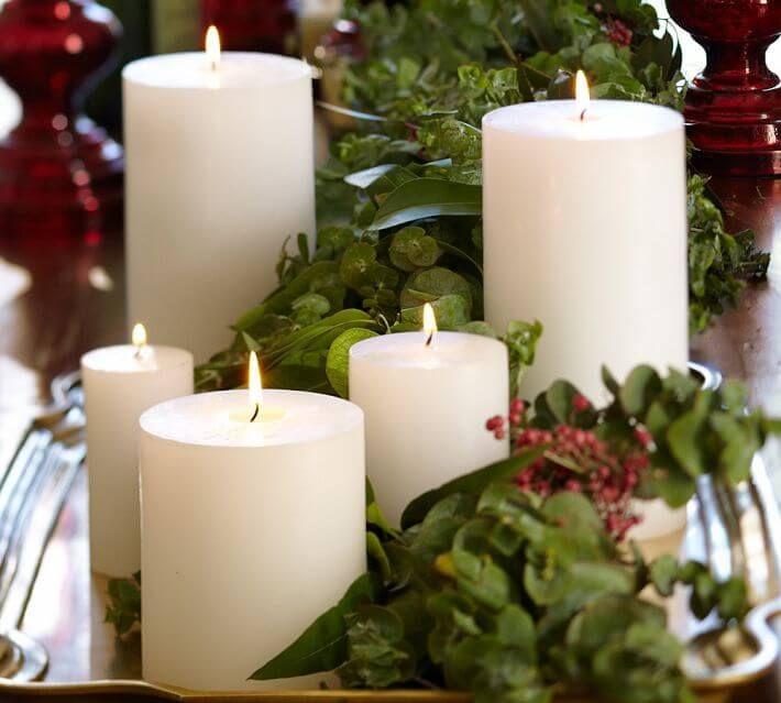 Christmas Candle Centerpiece Ideas 31 best christmas candle decoration ideas images on pinterest