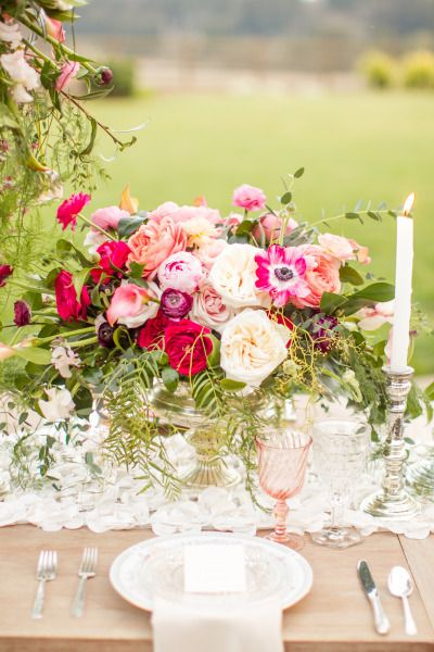 Dazzled by this centerpiece: http://www.stylemepretty.com/california-weddings/2014/10/08/outdoor-wedding-inspiration-filled-with-rustic-romance-at-devine-ranch/ | Photography: Mike Larson - http://mikelarson.com/