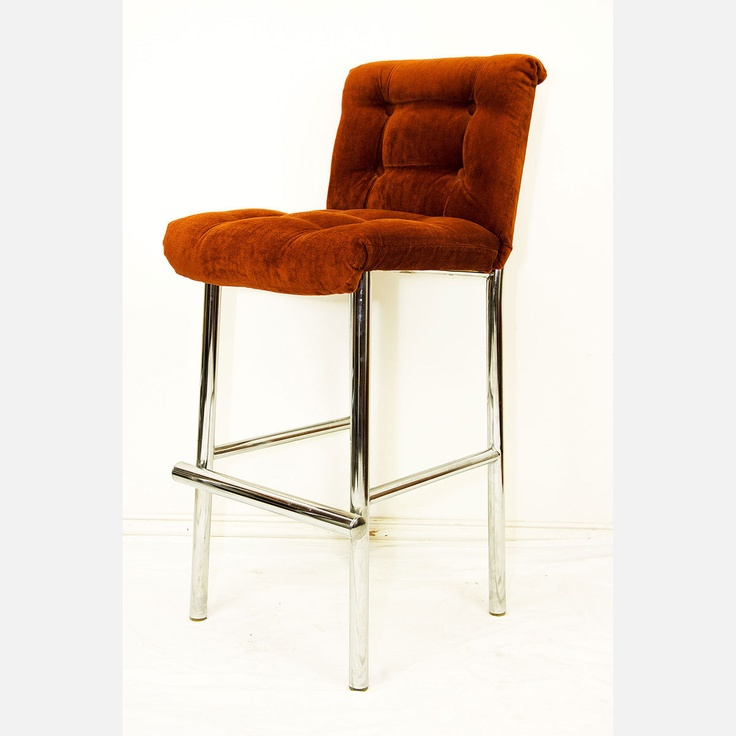 70s Bar Stools Burnt Orange