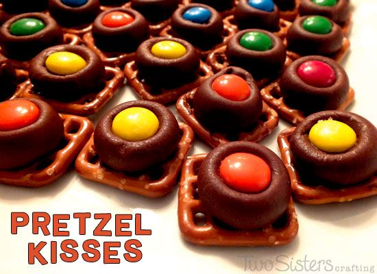 We feature the recipe and directions on how to make Pretzel Kisses, a great sweet and salty snack item for a party.