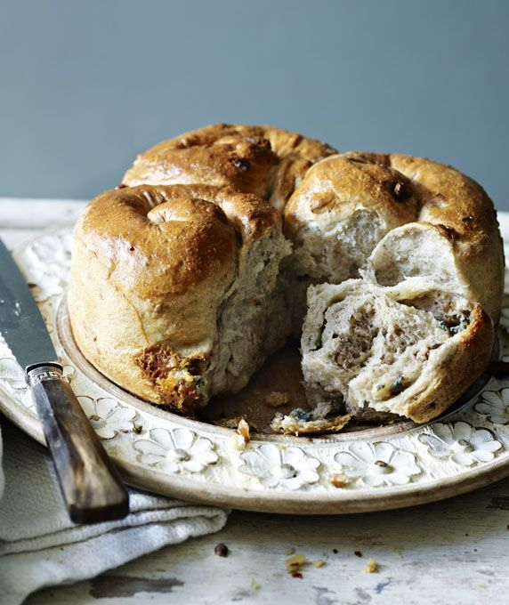 Try making this cheesy bread as a way to use up the remains of a cheese board