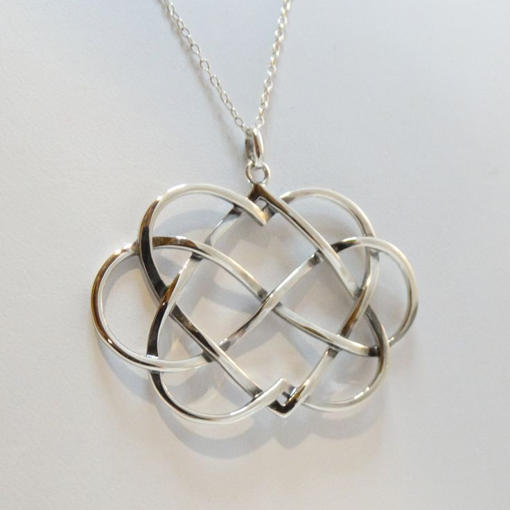 Sterling Silver Infinity Hearts Necklace | FashionJunkie4Life