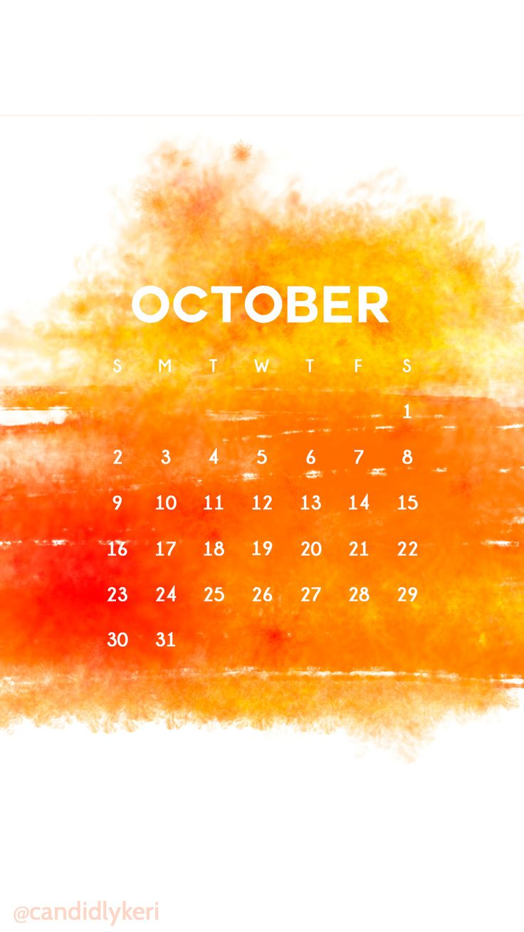 Watercolor fire yellow red orange October calendar 2016 wallpaper you can download for free on the blog! For any device; mobile, desktop, iphone, android!