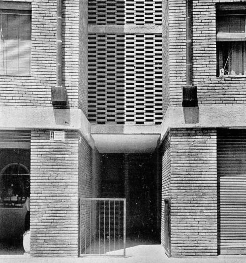 "elarafritzenwalden:  "" Housing for the employees of a metallurgical factory  Barcelona, Spain; 1955-59  Oriol Bohigas Guardiola, Josep Maria Martorell, David Mackay  Taken from ""Cuadernos de arquitectura, 44"" (1961)  """