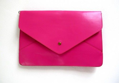 oooh !! so cute ♥: Bright Pink, Pink Pur, Pretty Pink, Pink Envelopes, Bright Clutches, Pink Bags, Hot Pink, Hotpink Envelopeclutch, Envelopes Clutches