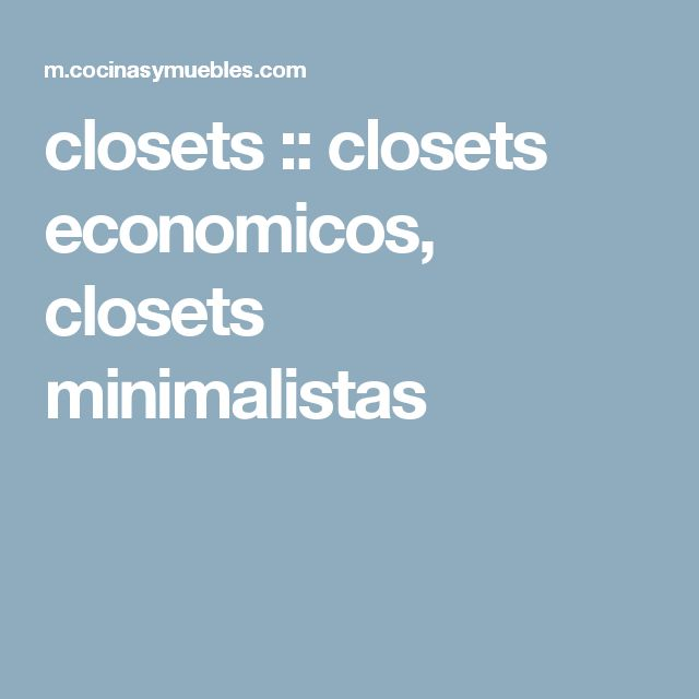 closets :: closets economicos, closets minimalistas