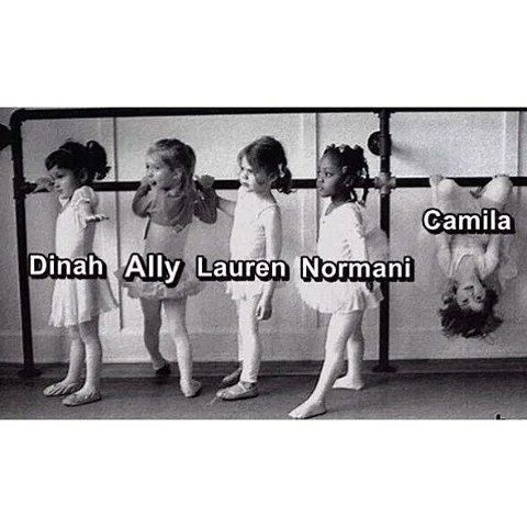 Dinah- I've got this guys... Ally- omg it's a bar!!!!!! Lauren-wtf is this someone kill me... Normani- I've got this with style... Camila- lolly pops and candy.... OHH LOOK THE WORLDS UPSIDE DOWN!!!!!