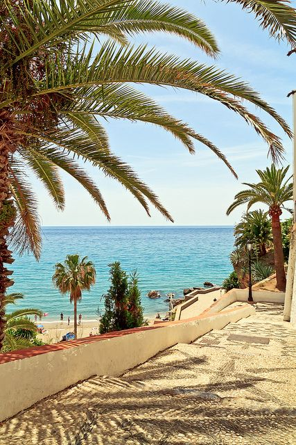 Pathway to the beach | Nerja, Spain Visit Nerja next summer with www.CrazySpanish.com