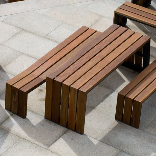 the kink table and bench designed and manufactured by tait outdoor csf