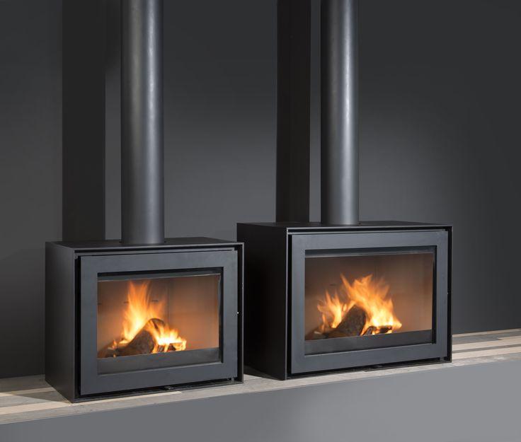 Smart 60 & 75 Black Edition zijn vrijstaande houtkachels met strakke vormen.