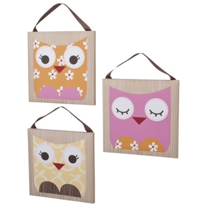 Cocalo Baby 3 Piece Canvas Art - In The Woods.Opens in a new window: Babies, Wood, Cocalo Baby, Baby 3, Canvas Art, Pieces Canvas, Owl Canvases, Baby Girls, Owls