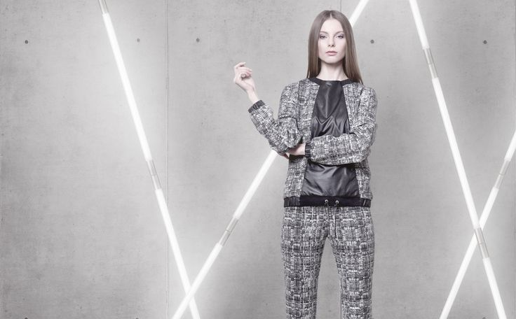 Cocoon Spring - Summer 2014 / Non collection / Suit, Sweatshirt & Pants with black and white pattern.
