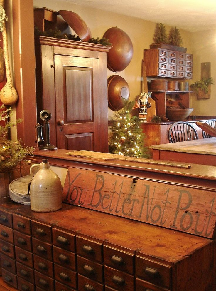 primitive decor christmas country decorating place primitives holidays cover homes magazine kitchen modern room holiday living prim rooms dwelling colonial