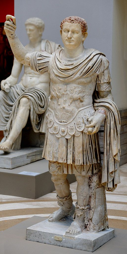 Emperor Titus, Roman statue (marble), 1st century AD, (Museo Archeologico Nazionale, Naples).