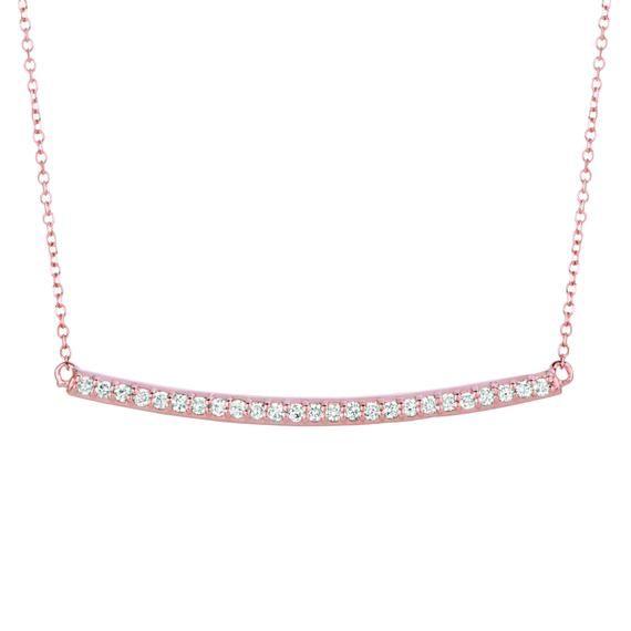 Curved Diamond bar necklace, Black Friday Sale, Cyber, real diamond necklace, Diamond Layering neckl