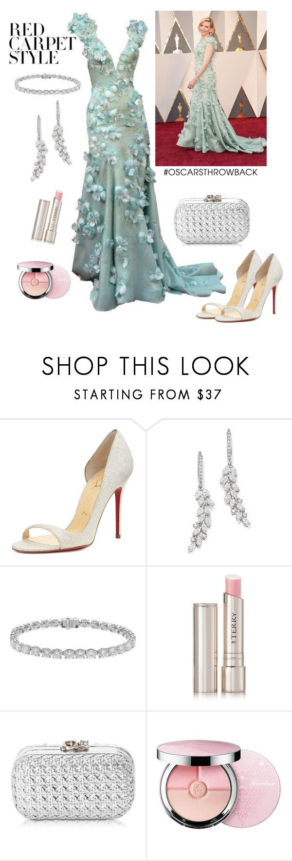 """""""Cate Blanchett Oscars"""" by lavandel ❤ liked on Polyvore featuring Christian Louboutin, Bloomingdale's, By Terry, Corto Moltedo, Guerlain, redcarpetstyle and OscarsThrowback"""