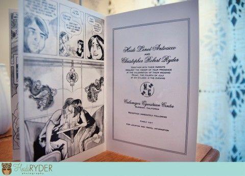 comic book wedding invites #wedding #mybigday