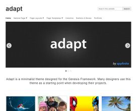 Wordpress theme adapt. Smarter Websites fully customises each them to suit your business.