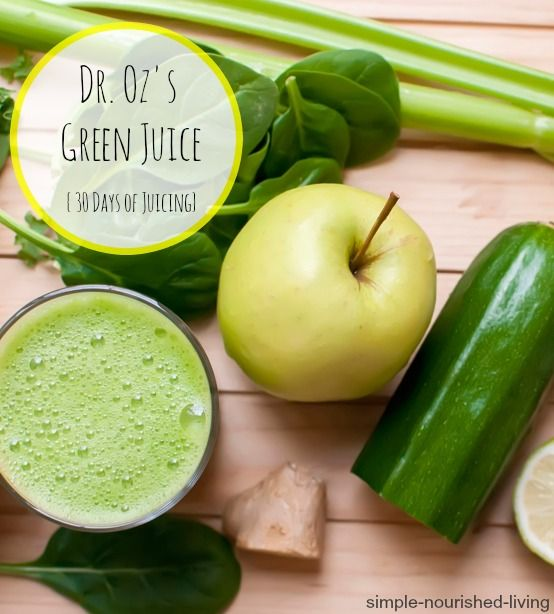 Dr Oz's Green Drink Juice, an easy, healthy, tasty way to start the day, 110 calories and 3 Points Plus, 30 Days of Juicing Juice Fest