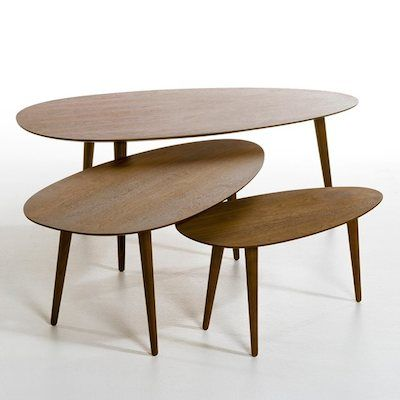 Flashback hevea wood retro coffee tables from La Redoute - 25+ Best Ideas About Retro Coffee Tables On Pinterest Mid