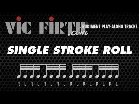 Vic Firth 40 Essential Rudiments: Single Stroke Roll