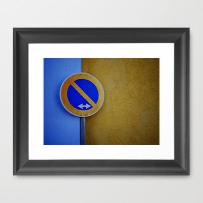 The Sign / Color Swap Framed Art Print by Rainer Steinke - $40.00