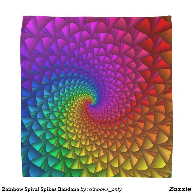 Rainbow Spiral Spikes Bandana