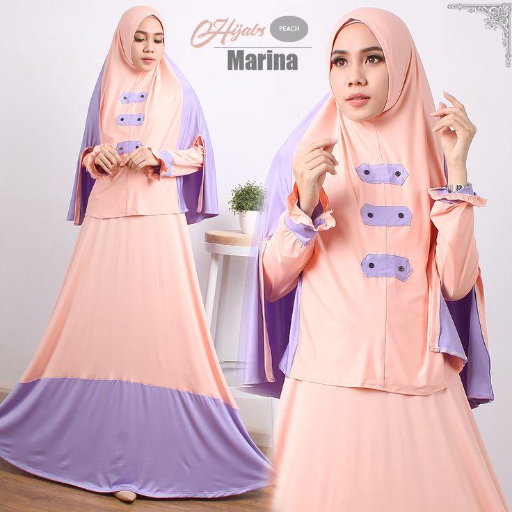 Baju Gamis Terbaru | Ready Marina Syari Salem Lila Harga Diskon