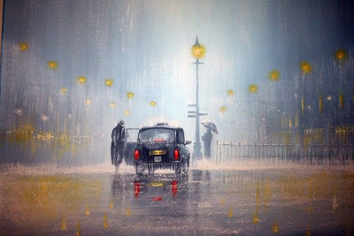 April in Paris  Painting by Jeff Rowland #art