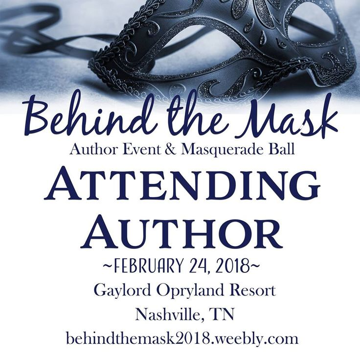 Behind the Mask #authorsigning & Masquerade Ball in Nashville, TN Feb 24, 2018 I'll be there with many other authors & my sis! Susie from the books Join us for fun, dinner & dancing, wonderful writers and amazing books! Details on the Site: http://behindthemask2018.weebly.com/?utm_content=bufferb1a65&utm_medium=social&utm_source=pinterest.com&utm_campaign=buffer Tickets…