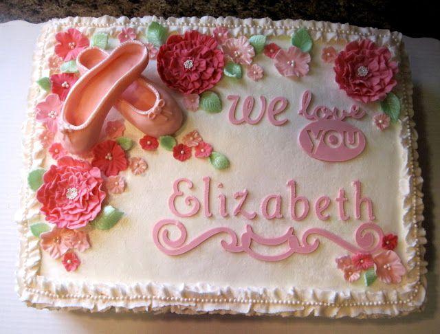 Benutzerdefinierte Kuchen von Stef: Rüschen / Ballett Blatt Kuchen   – Emily's dance recital party