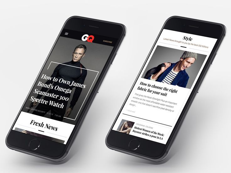 Online Lifestyle Magazine: GQ Redesign Concept - Mobile by Tom Koszyk
