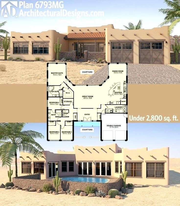 Santa Fe Style House Plans Attractive Adobe Style House Plans With Courtyard Center New Best Floor Modern Santa Fe Styl House Plans Southwest House Adobe House
