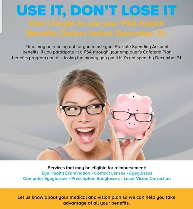 Use Your Flexible Spending Account Fsa For Your New Vision Call Us 424 264 5821 Today Fsa Hsa Health With Images Flexible Spending Accounts Cafeteria Plan