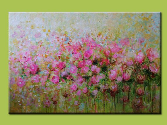 The Pink Rose original painting