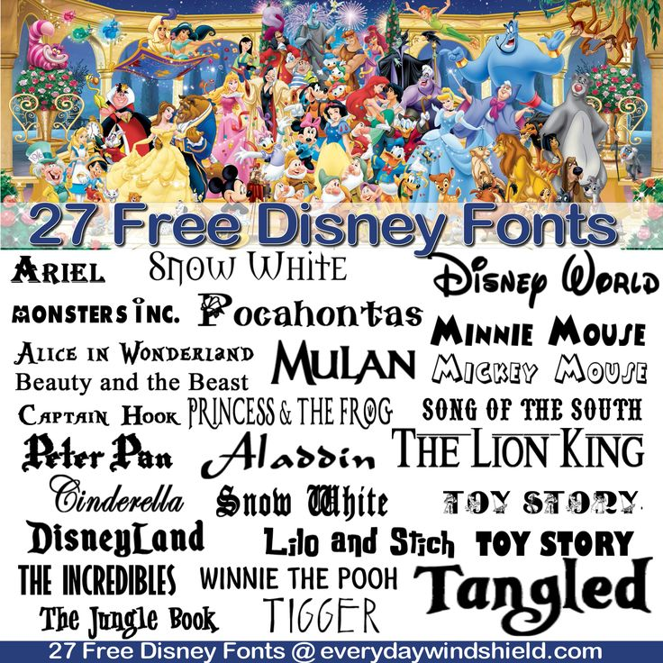 "Get creative with these 27 Free Disney-inspired fonts to make your own Disney magic!  We're so excited to share with you these cool free Disney font ideas. We searched high and low to find ""the"" sp..."