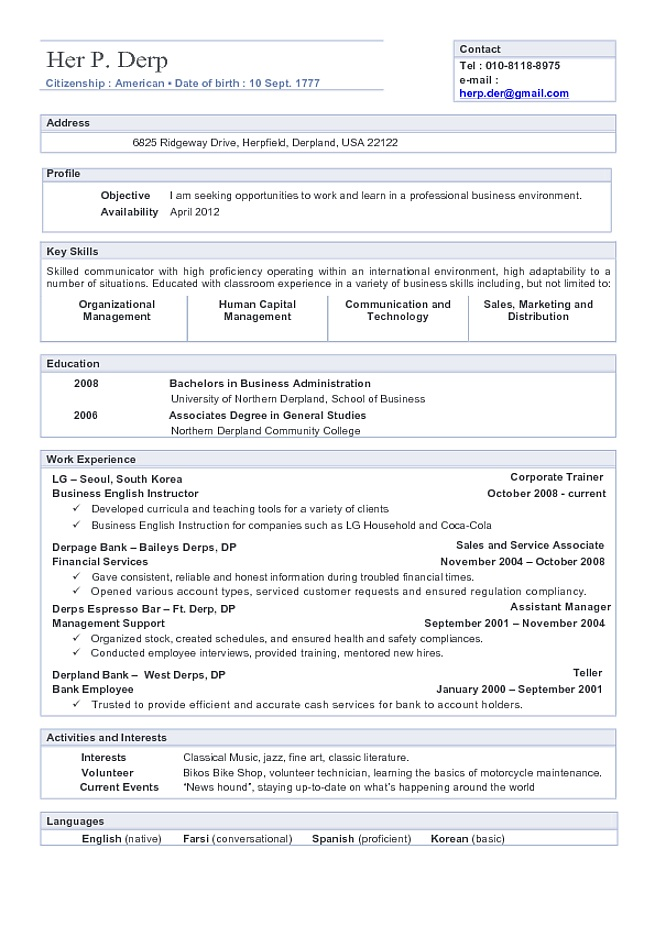 101 best Job information images on Pinterest Business, Creative - resume information