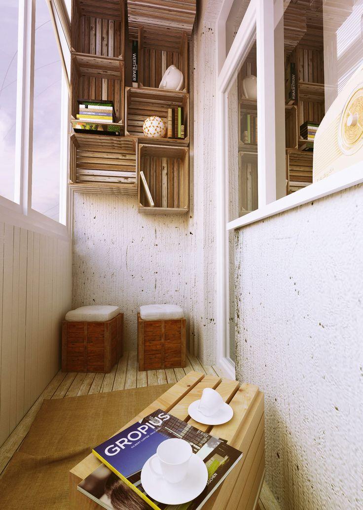 Фотография: Балкон, Терраса в стиле Лофт, Интерьер комнат, российский балкон, украшение балкона, дизайн балкона, балкон недели, балкон в сталинке – фото на InMyRoom.ru