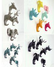 European Style Animal head Resin Coat Hook Retro Key Hat Bag Hanger Decorative Wall hooks Bar Home Decoration(China (Mainland))