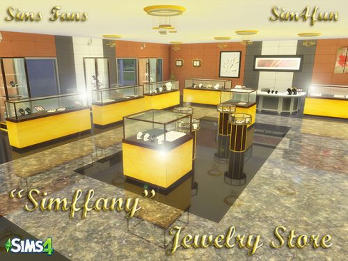Simsfans Hi Guys Let Me Introduce A New Mesh Jewelry Store For Sims 4 Sims 4 Sims Sims 4 Update