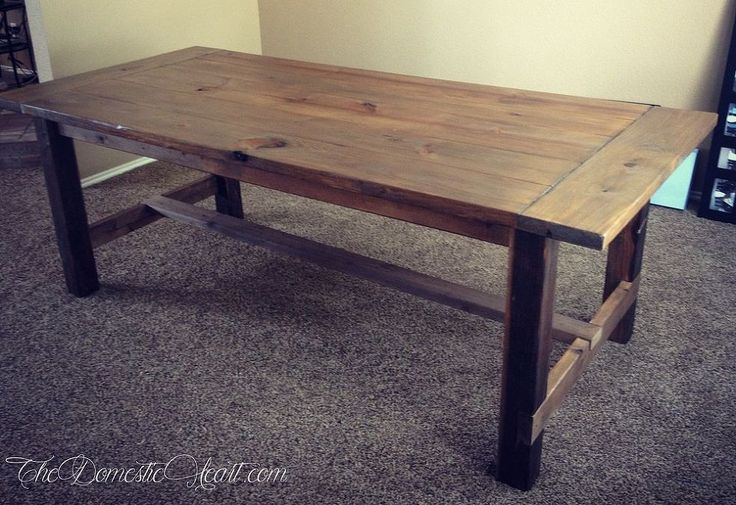 Hometalk :: $100 Farmhouse Dining Table - #DoableDIY