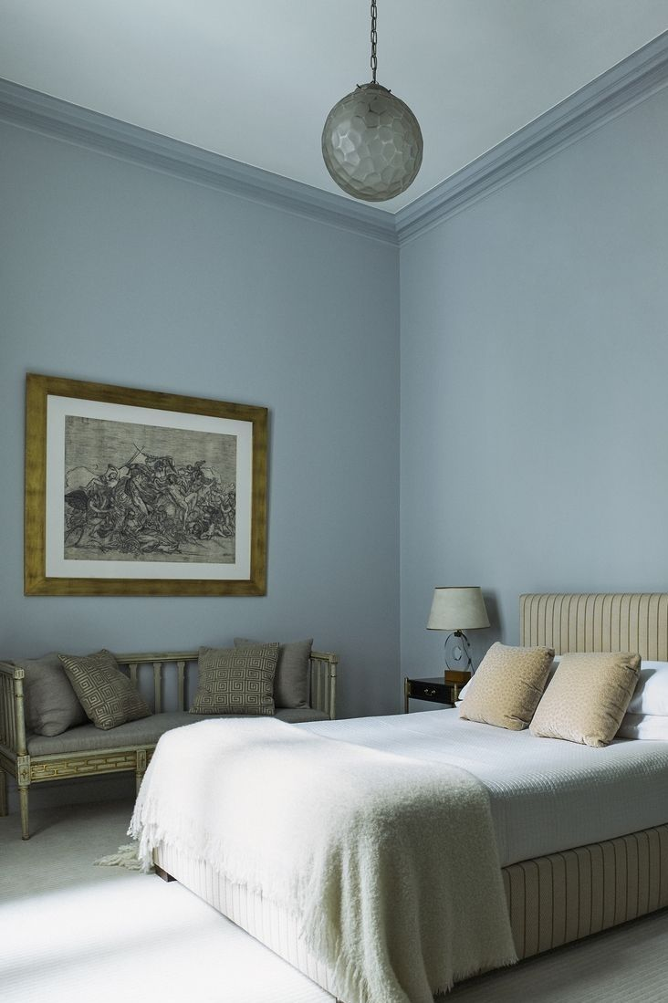 Paint Your Bedroom This Pretty Shade For A Tranquil Vibe Light Blue Bedroom Blue Bedroom Decor Blue Bedroom Walls