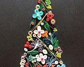Articles similaires à Papier Quilling sticker arbre de Noël. Cadeau de Gift.Christmas à la main sur Etsy