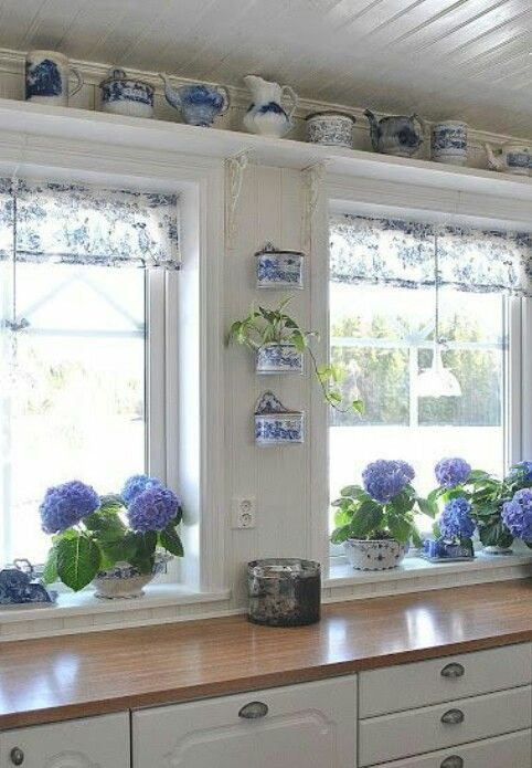 Shelves above windows
